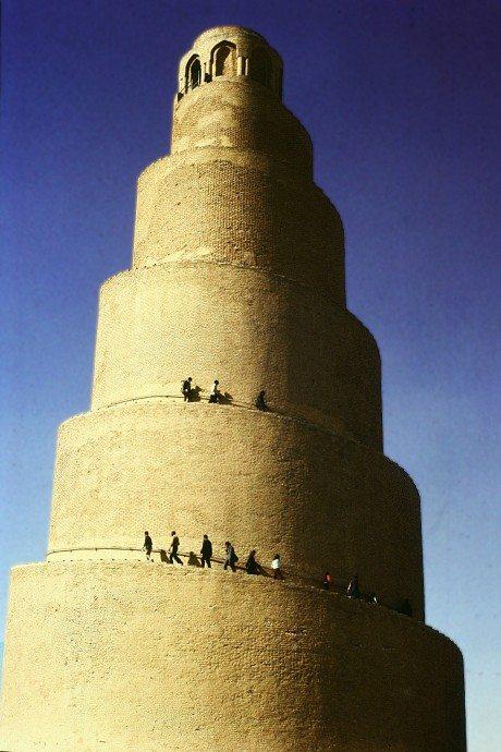 Minaret of Great Mosque, Samarra, Iraq, architecture, religion, mosque, church, travel, islam