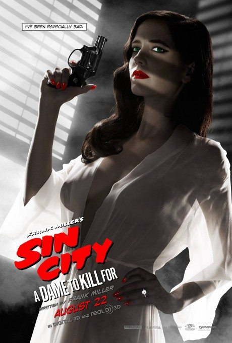 sin city: A dame to kill for, sin city II, film, film poster, movie poster, poster, eva green, frank miller, breasts, banned