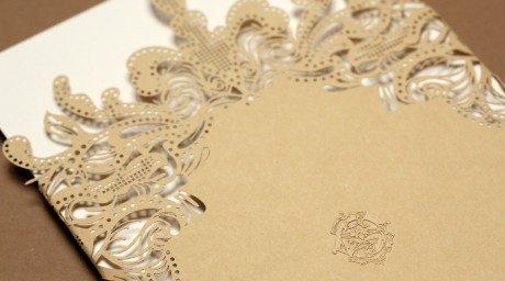 armorial, gf smith, colorplan, laser cut, lasercut, wedding invitation, meticulous, engraving, emboss, monogram