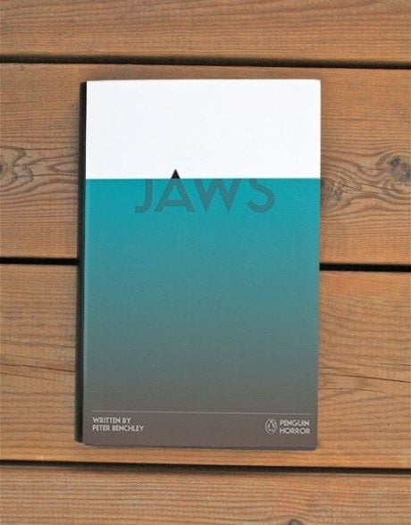 Jaws, book cover, cover, peter benchley, design, typography, illustration, Penguin Horror, book, Tom Lenartowicz