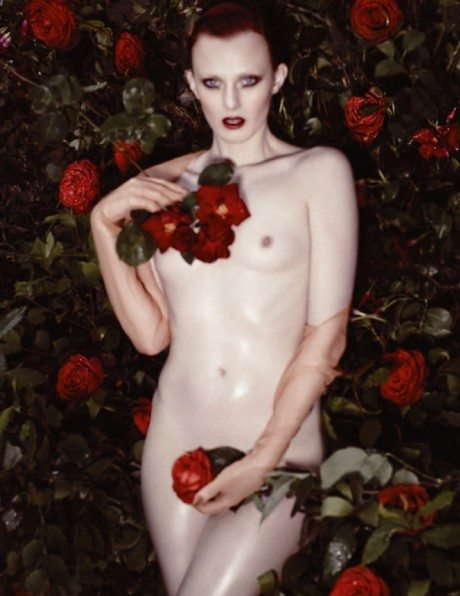 Karen Elson, photography, Sølve Sundsbø, editorial, September 2014, Lui Magazine, naked, nude, breasts, weird