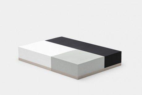 paper, stationery, memo block, Ito Bindery, Japan, three precision cut, modular size, rectangular shape, white, grey, red, pencil mark, silver.