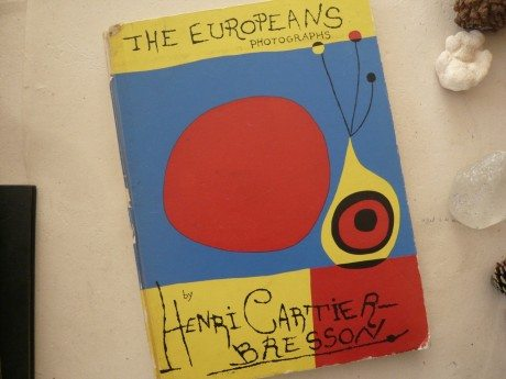 The Europeans, book, photography, Henri Cartier-Bresson, 1955, cover, designer, artist, illustration, typography, Joan Miró