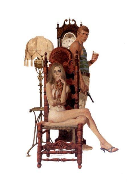 Robert McGinnis, illustration, art, nude, sexist, sexy, pulp, pulp book, book cover, cover, robert mcginnis
