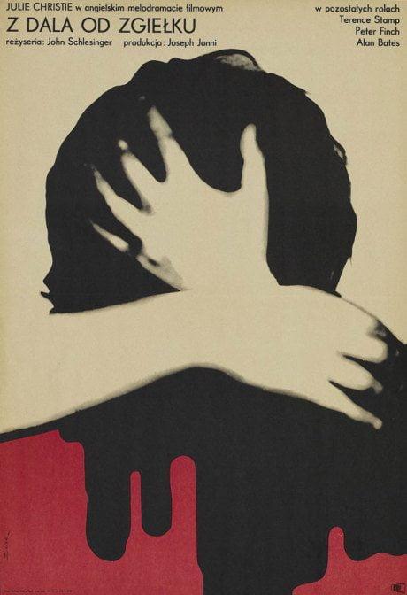 illustration, film, film poster, Thomas Hardy, Polish, movie poster, Far From The Madding Crowd, director, John Schlesinger, UK, 1967, poster, designer, Bronislaw Zelek, 1935