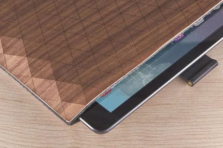 iPad, iPad sleeve, handcrafted wood veneer, sleeve, Grovemade, Eastern hard rock maple, Oregon black walnut.