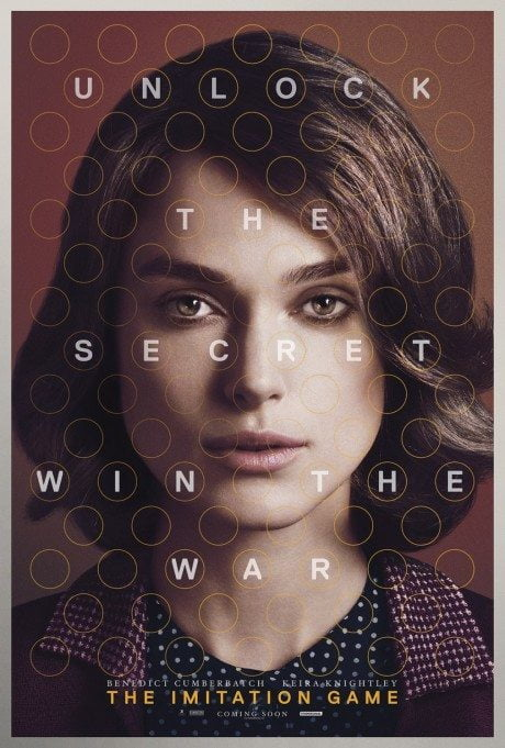 the imitation game, imitation game, benedict cumber batch, keira knightley, film, film poster, movie poster, alan turing, code, codebreaker, Bletchley park, war, homosexual, bio, biography