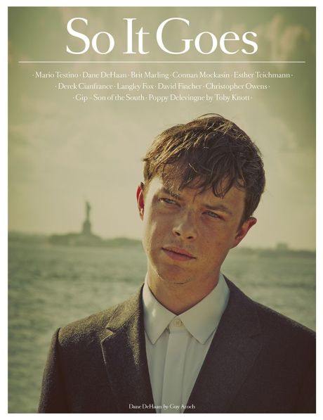 So It Goes, magazine, actor, Dane DeHaan, Guy Aroch, cover, Brit Marling, photography, James Wright