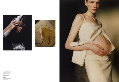 pregnant, fashion, model,  Julia Kosheleva, photography, Harley Weir, cover, SSAW, magazine