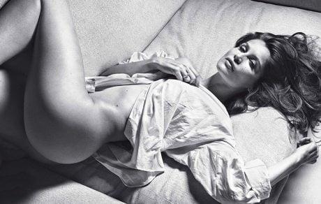 Laetitia Casta, model, supermodel, naked, nude, photographer, editorial, Mario Sorrenti, Lui, magazine, December/January 14.15