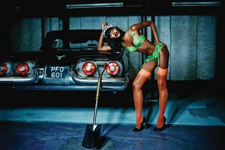 Naomi Campbell, Agent Provocateur, SS 2015 Campaign, photographer, photography, lingerie, stockings, knickers, underwear, suspenders, Ellen von Unwerth