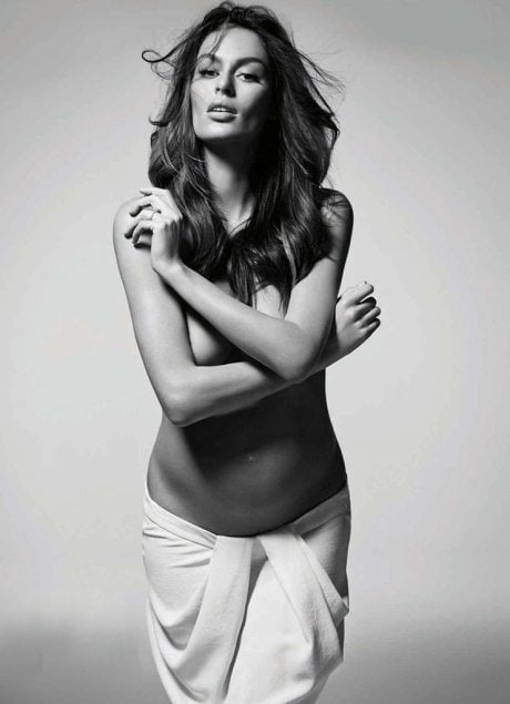 Pregnant, Nicole Trunfio, Simon Upton, Harper's Bazaar, Australia, January 2015, photography, model, fashion, naked, nude
