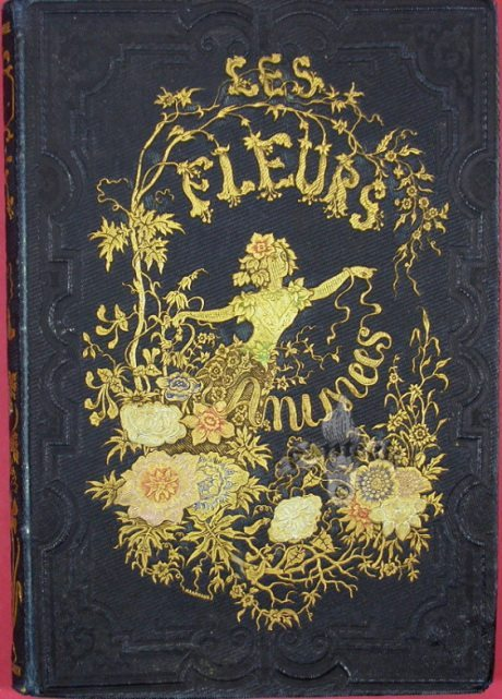 bookbinding, Jean-Ignace-Isidore Gérard,  Les Fleurs Animées, book, book cover, illustration, typography
