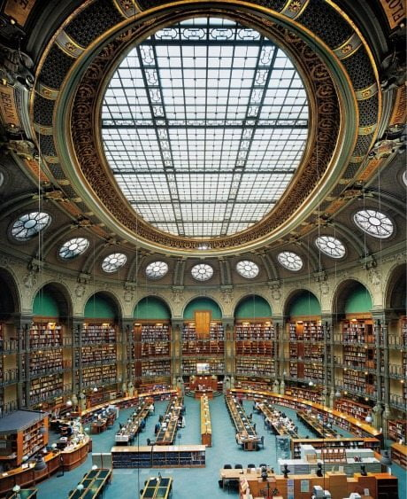 The Oval Room, Reading Room, The National Library of France, Paris, books, library