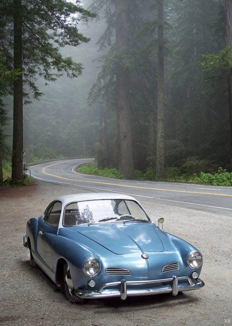 1955 VW Karmann Ghia, car, classic car, styling, travel