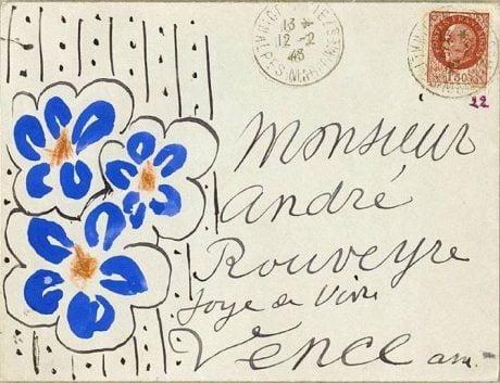 Henri Matisse, postcards, 1943, André Rouveyre, artist, illustration,