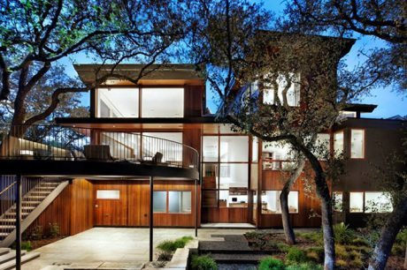 Austin, Texas, Tree House, Miró Rivera Architects, wood, architecture, interiors