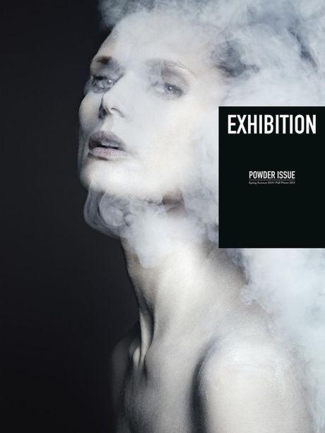 Exhibition No. 5: The Powder Issue, cover, model, fashion, Malgosia Bela, photography, Boris Ovini, Stella Tennant, Luigi+Iango, magazine cover