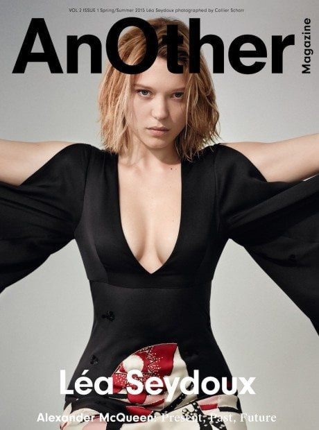 Léa Seydoux, film, actress, breasts, AnOther, magazine, SS 2015
