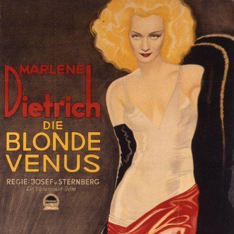 Die blonde Venus, film poster, 1932, Marlene Dietrich, film, germany, weimar, movie poster, poster, actress