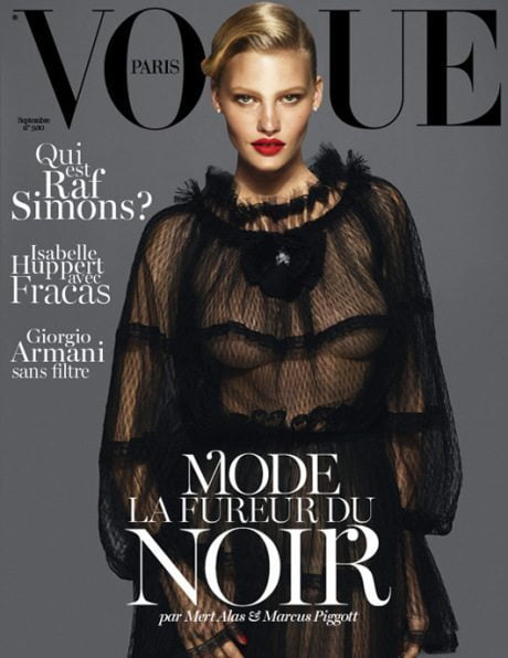 Lara Stone, Kate Moss, Daria Werbowy, September 2012, Vogue Paris, magazine, magazine cover, model, fashion, supermodel