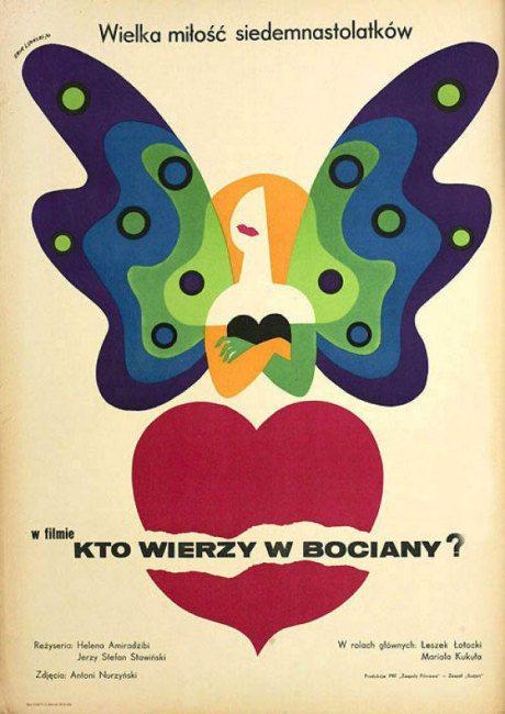 film, film poster, movie poster, illustration, 1971, Polish, poster, Who Believes In Storks, director, Helena Amiradzib