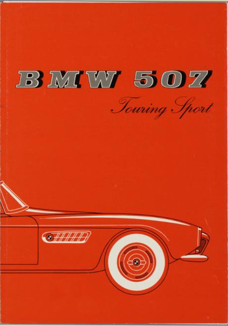 1956, German, trade brochure, BMW 507 Touring Sport, car, designer, Albrecht Graf von Goertz, automotive design, classic car