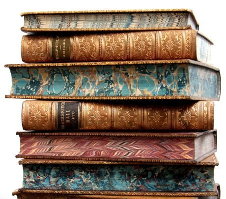 19th century, leather bound book, book, bookbinding, marbled pages edges, marbled, marbleling