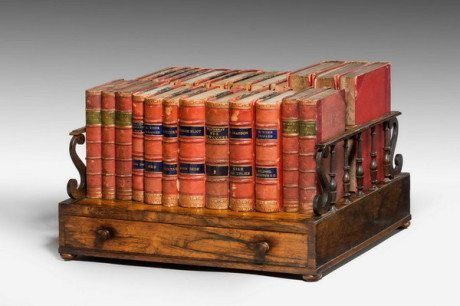 Early 19th Century Mobile Bookshelf, regency, antique, books, book, library, furniture, wood
