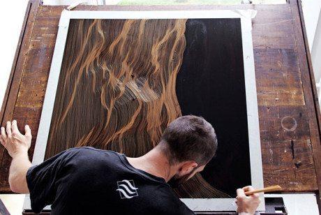 john franzen, Morphogenetic, Morphogenetic Freehand Etchings, etching, discharge prints, meditative, meditation art, breathing, gold, copper, brass, needle