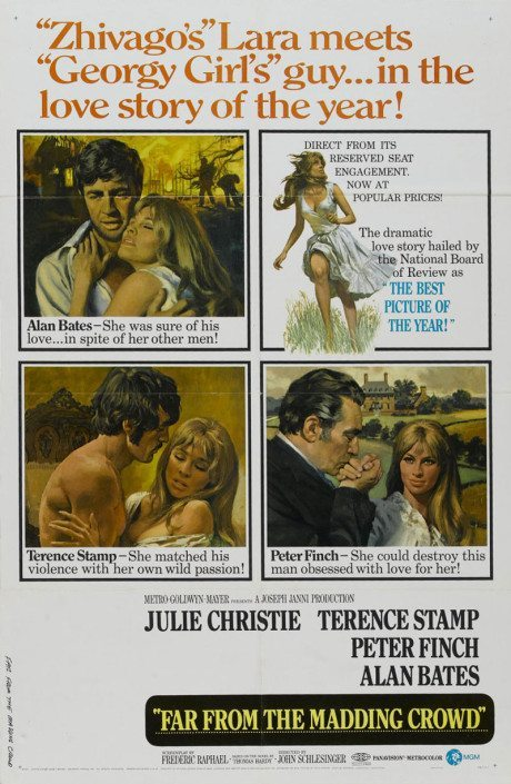 Far from The Madding Crowd, film, film poster, movie poster, poster, john schlesinger, julie chorister, carey mulligan, terrence stamp, alan bates