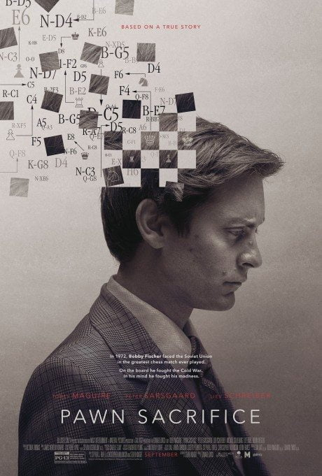 chess grand master, Bobby Fischer, Cold War, chess, pawn sacrifice, film, film poster, movie poster, poster