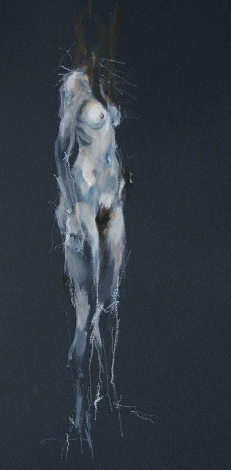 Leo Van Der Meer, nude, figurative, life study, life drawing, named, illustration, sketch, art