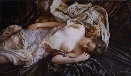 Serge Marshennikov, painting, oil painting, female nude, nude, portrait, exhibition
