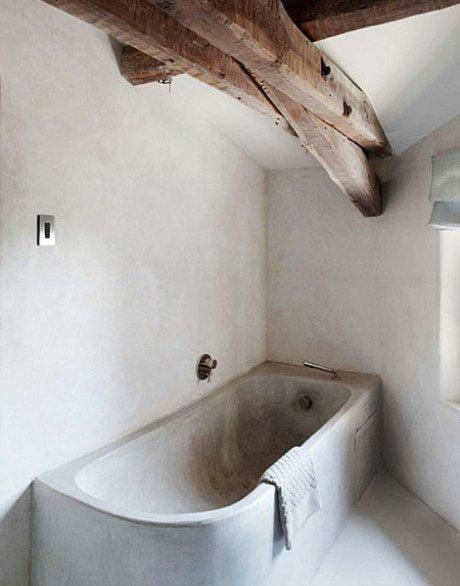 bathroom, bath, shower, interior, interior design, concrete