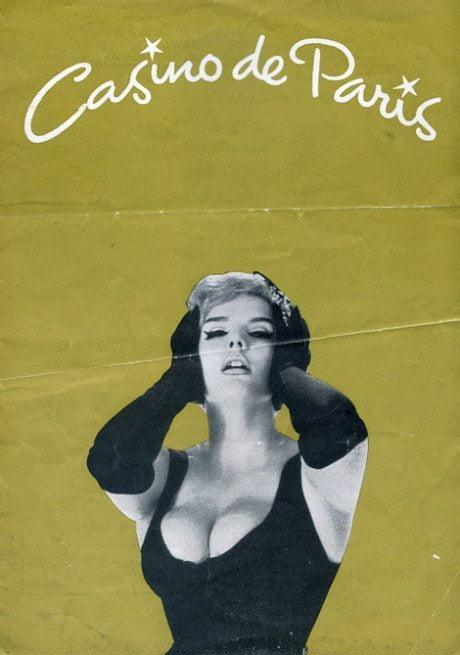 Casino de Paris, programme, graphic design, nightclub, cabaret, montage, collage