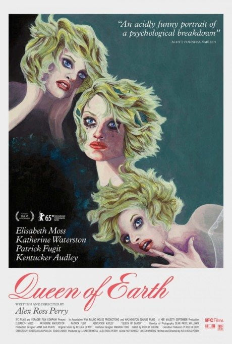 movie poster, Alex Ross Rerry, Queen of Earth, film, film poster, director, illustration