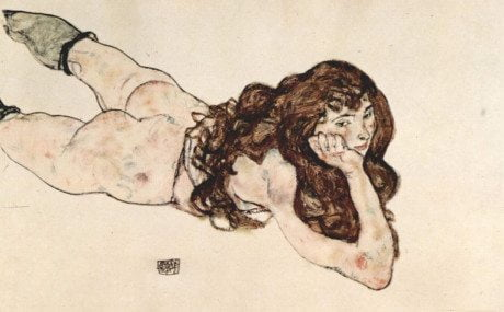 Egon Schiele, Frauen, 1914, Weiblicher Akt, 1917, painter, figurative, art