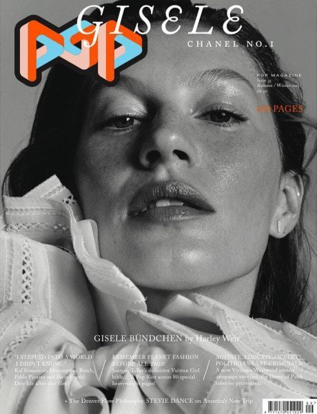 Pop, magazine cover, Sasha Pivovarova, Gisele Bündchen, Adèle Exarchopoulos, special edition cover, Mariacarla Boscono, 50 years of Lagerfeld, Fendi, Claire de Rouen, art bookshop, London