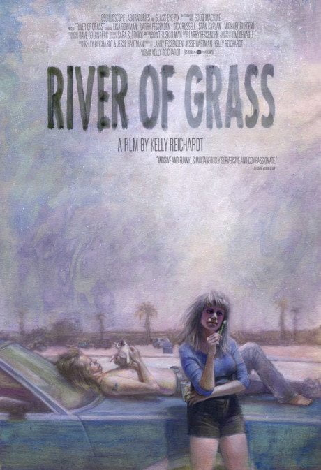 illustration, US, re-release, poster, River Of Grass, director, Kelly Reichardt, USA, 1993, illustrator, artist, Zachary Baldus, film, film poster, movie
