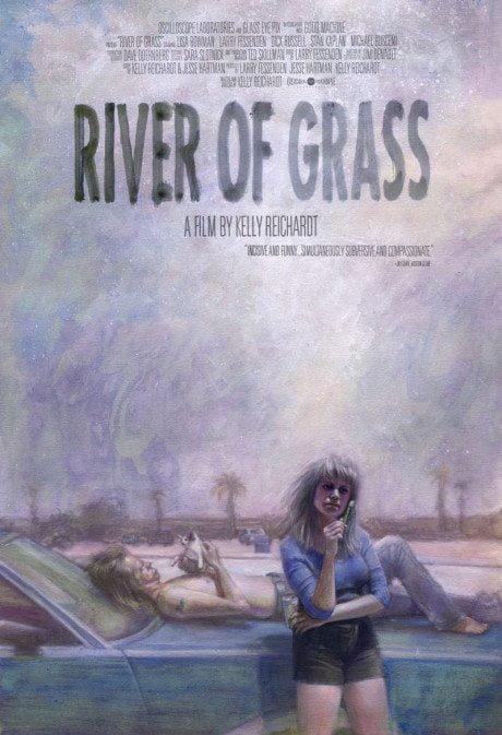 illustration, US, re-release, poster, River Of Grass, director, Kelly Reichardt, USA, 1993, illustrator, artist, Zachary Baldus, film, film poster, movie