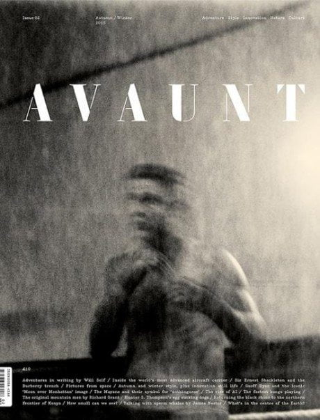 avant, magazine, magazine cover, cover, layout, black & white, typography