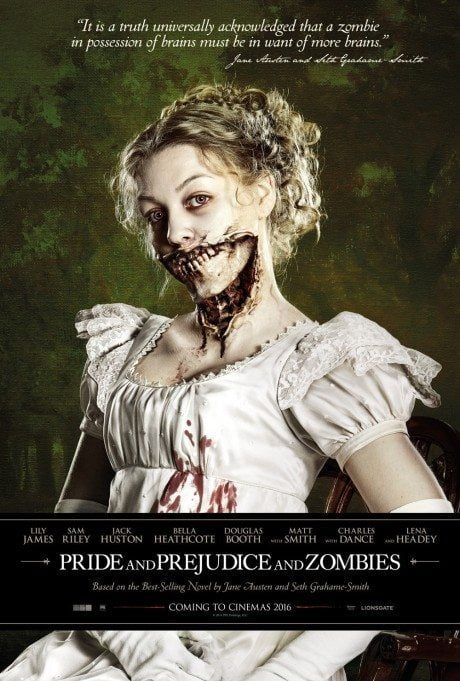 Pride And Prejudice And Zombies, film, film poster, jane austin, zombies, film poster, movie poster, horror