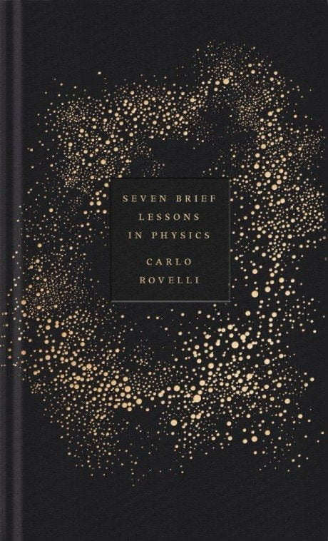 Seven Brief Lessons On Physics, Carlo Rovelli, book cover, cover, book, foil-blocking, design