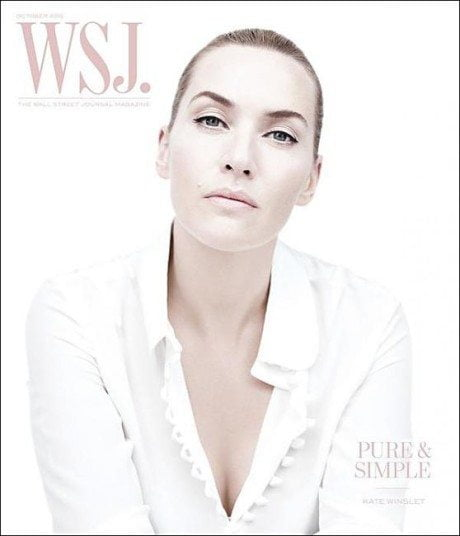 Kate Winslet, actress, portrait, magazine, magazine cover, clean, clarity, white, cover, Wall Street Journal Magazine